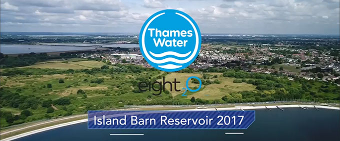 Thames Water repiars to Island Barn Reservoir 2017