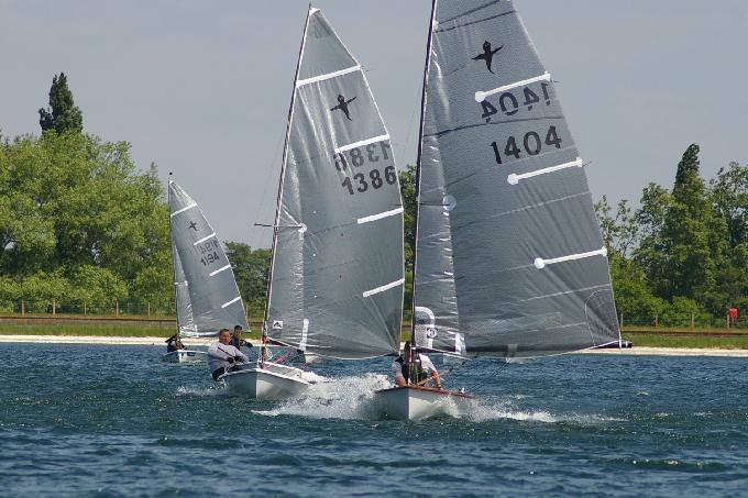 In the gust front - the eventual top three get away downwind on a big gust at the IBRSC Phantom Open 2013.JPG