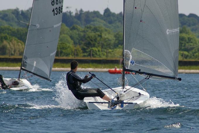 Third placer Richard Barker enjoys another windy reach at the IBRSC Phantom Open 2013.JPG