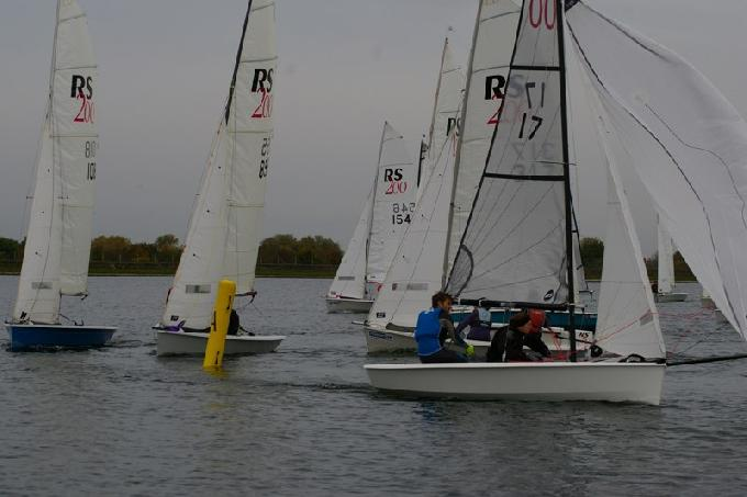 Ian Martin and Lucy Preston lead awy from the windward mark again RS200 Inlands IBRSC (c) Jim Champ