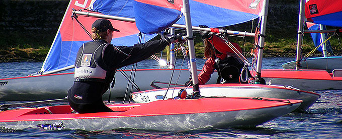 Topper Open Training at Island Barn Reservoir Sailing Club