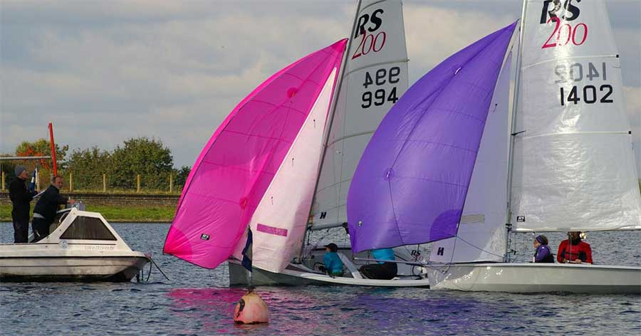 rs200 finish line at island barn reservoir sailing club