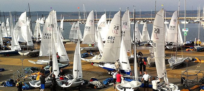 160 RS200s boats returning to WPNSA day 1