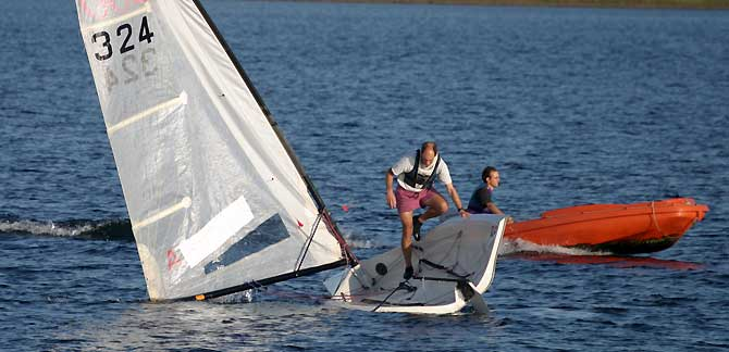RS300 Dinghy at Island Barn Reservoir Sailing Club