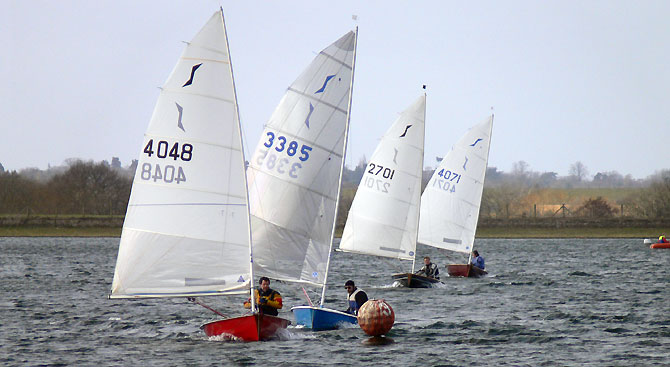 Solo Dignhy Fleet at Island Barn Reservoir Sailing Club