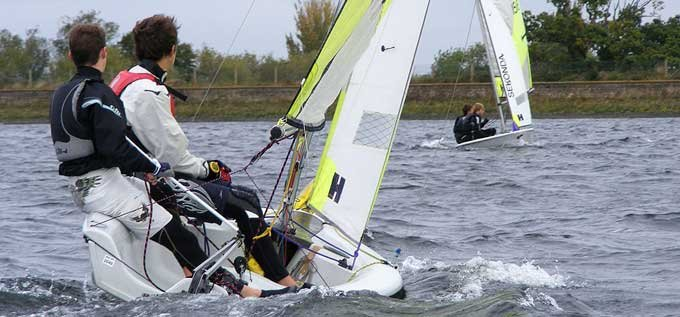 RS Feva open training at island barn reservoir sailing club