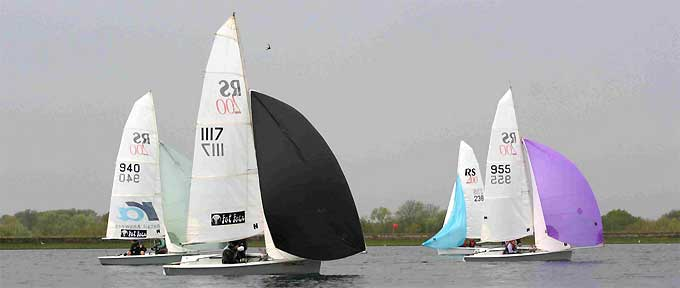 RS200 Class Dinghy at Island Barn Reservoir Sailing Club