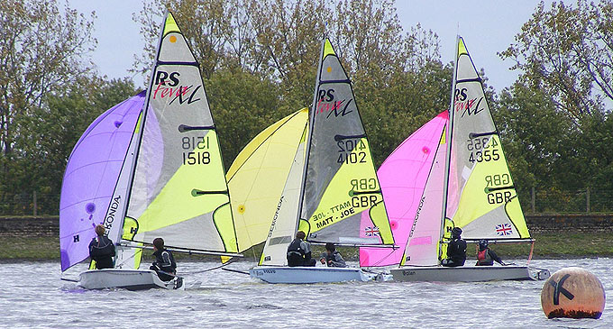 RS Feva Open at Island Barn Reservoir Sailing Club 2012