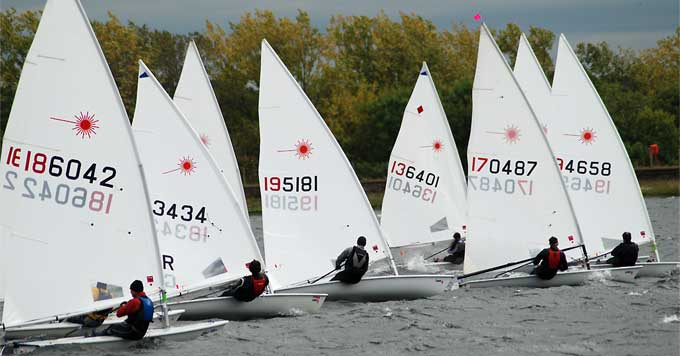 The International/Olympic Laser Class Sailboat at Island Barn Reservoir Sailing Club